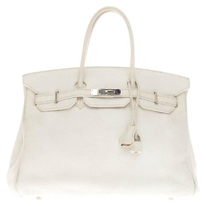 Hermès Hermes Leather Tote in White