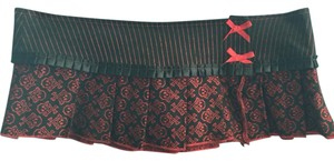 Serious Clothing Mini Skirt Black/Red