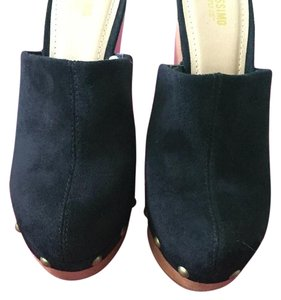 Mossimo Supply Co. Black Suede Mules