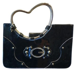 Guess Satchel in Black with Silver Accents