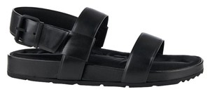 Balenciaga Leather Neoprene Open Black Sandals