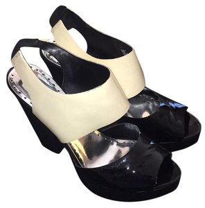 BCBGeneration Black and cream Platforms