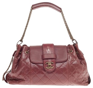 Chanel Stingray Leather Tote in Dusty Rose