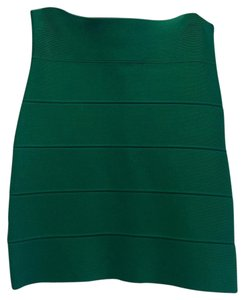 BCBGMAXAZRIA Bandage Mini Evening Mini Skirt Green