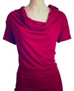 Velvet Cowl Neck T-shirt Cotton Wide Collar Maroon Comfy Casual Sleeve T Shirt Burgundy NOT Pink