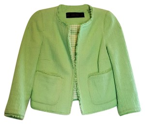 Zara Tweed Gingham Green Blazer