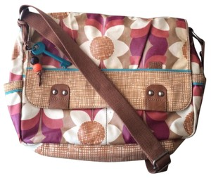 Fossil Key-per Floral Messenger Zb4582 Multi, Floral Messenger Bag