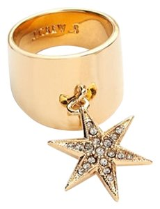 J.Crew Sloped Gold Ring with Star
