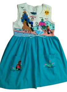 Fairytales on Parade short dress Little girls Creme / turquoise on Tradesy