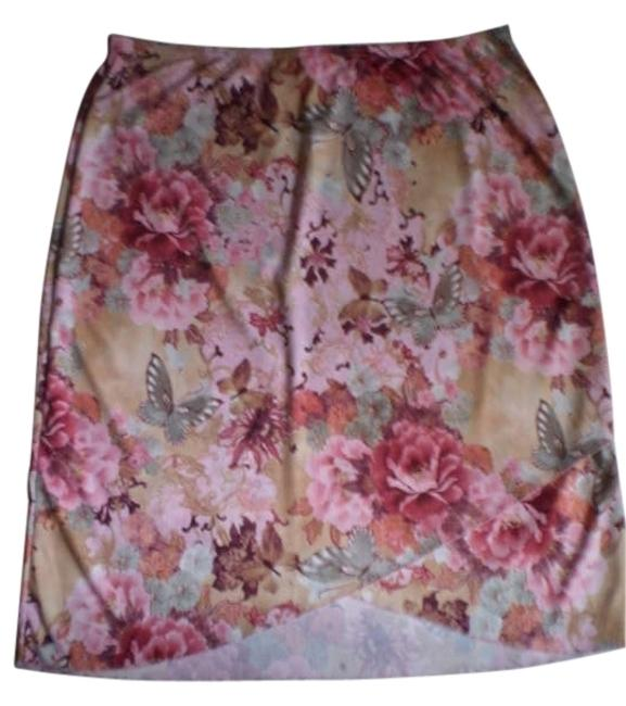 Preload https://item3.tradesy.com/images/like-new-flowers-butterflies-knee-length-skirt-size-16-xl-plus-0x-181602-0-0.jpg?width=400&height=650