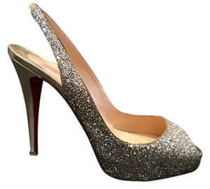 Christian Louboutin Slingback Gold Pumps