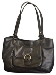 Coach Tote in Dark Pewter Metallic