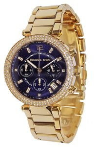 Michael Kors MICHAEL KORS (MK6262) PARKER GOLD CHRONOGRAPH BLUE DIAL WATCH