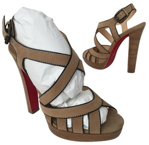 Christian Louboutin Heels High Heels Beige Sandals