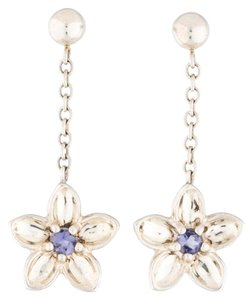 Tiffany & Co. Iolite Flower Earring