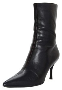 Gucci Black Leather Ankle Boots