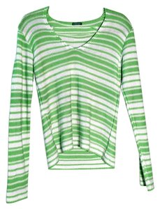 United Colors of Benetton Lime Stripe Sweater