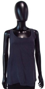 Eight Sixty Sleeveless Blue Top Gray