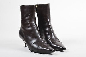 Chanel Leather Zipped Brown Boots