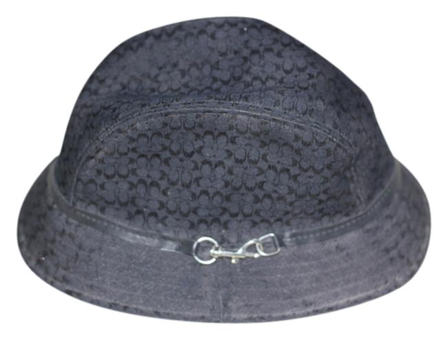 Item - Black with Silver Hardware Buckle On The Side Hat