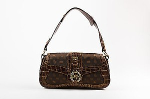 Etro Canvas Leather Shoulder Bag