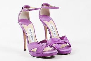 Jimmy Choo Orchid Suede Purple Sandals