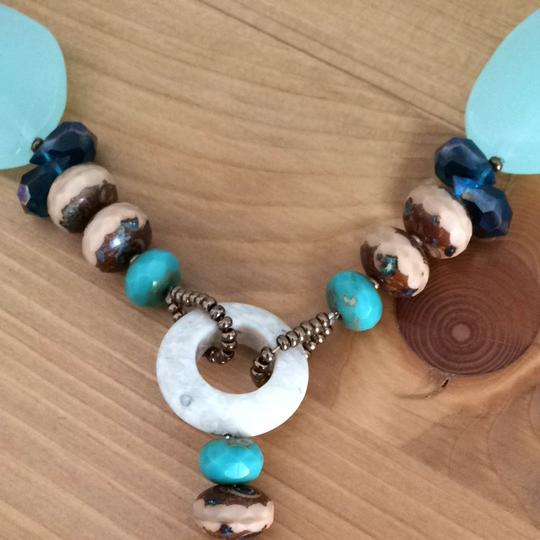 Other Cute Blue And Brown Statement Necklace Image 2