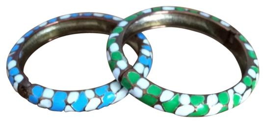 Preload https://item3.tradesy.com/images/blue-and-white-and-green-and-white-fun-statement-bracelets-1816297-0-0.jpg?width=440&height=440