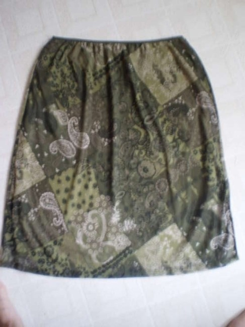 Kathie Lee Collection Skirt olive