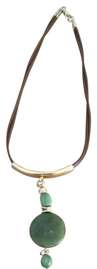 Other Fun Leather Chain Statement Necklace