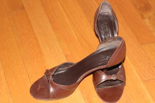 Coach Brwon Leather Sandals