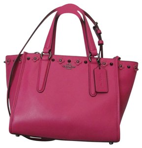 Coach New With Tag Satchel in dahlia