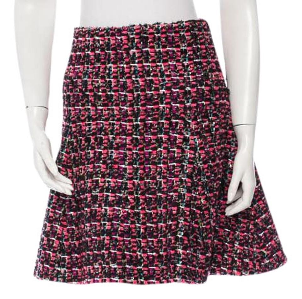 664f2cc65ccba Chanel Pink Tweed Flare Skirt Size 2 (XS