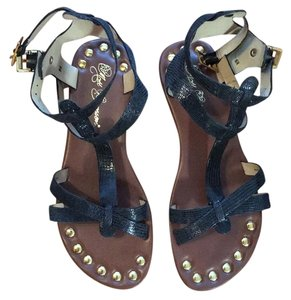 Matt Bernson Black/Gold Sandals