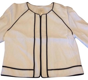 J.Crew White/black trim. Jacket