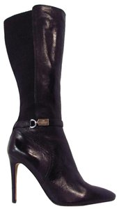 Coach Stiletto High Heel Ultima Black Boots