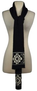 Ralph Lauren Ralph Lauren Rugby Womens Black White Scarf Os One Knit Casual
