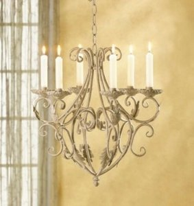 Wrought Iron Candle Chandelier Ceremony Decoration