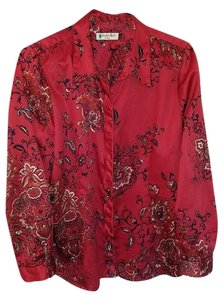 Coldwater Creek Button Down Shirt Red