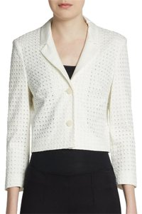 Hugo Boss Cotton Eyelet White Jacket