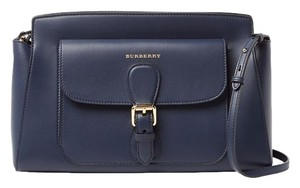 Burberry Navy Leather Saddle Cross Body Bag