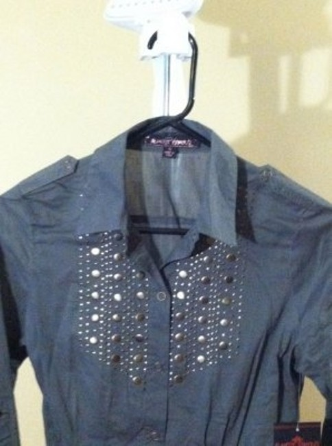 Almost Famous Button Down Shirt gray
