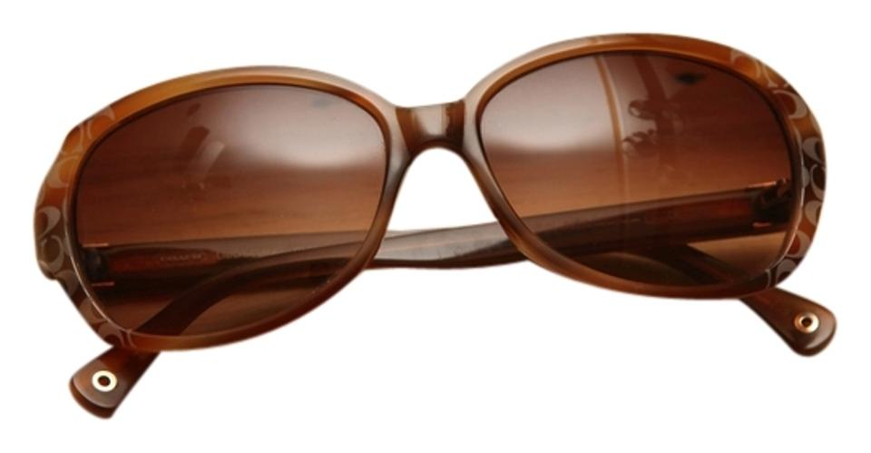 2558a42213a Coach Blonde Tortoise (Brown) Libby (S466) Shell Sunglasses - Tradesy