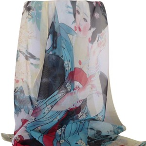 NEW - - Delicate Women's scarf/wrap RARE Geisha woman