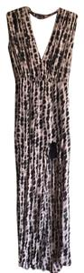 Black and taupe Maxi Dress by Boulee