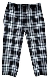 Jones New York Stretch Career Dress Casual Capris Black and White