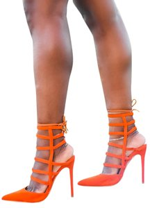 Shoe Republic LA Orange Pumps