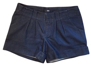 Mossimo Supply Co. Pleated Classic Tortoise Shell Cuffed Shorts Dark Denim