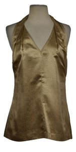 Beth Bowley Womens Gold Top Gold, Beige