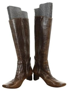 Marni Womens Distressed Brown Boots